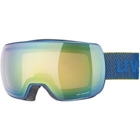 UVEX Compact V Beskyttelsesbriller, underwater mat/vario green mirror